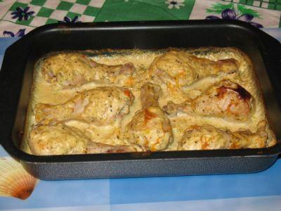 рецепт курица в сметанном соусе в духовке
